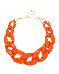 BaubleBar | Orange Jumbo Acrylic Links | Lyst