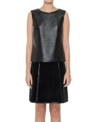 Leon Max - Black Ribbed Patent Shell - Lyst