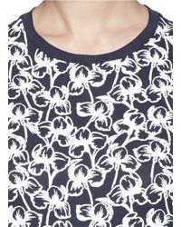 Tory Burch - Multicolor 'cathy' Rubber Floral Print T-shirt - Lyst