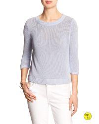 Banana Republic | Blue Factory Linen/cotton Open-back Sweater | Lyst