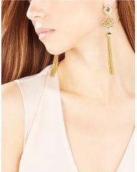 BCBGMAXAZRIA | Metallic Stone Tassel Drop Earrings | Lyst