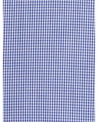 Banana Republic | Blue Tailored Slim-fit Non-iron Micro-gingham Shirt for Men | Lyst