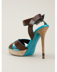 c865b6545489 Lyst - Fendi  claire  Sandals in Brown