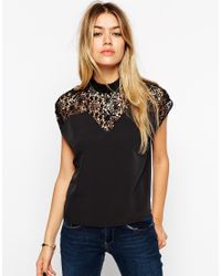 ASOS | Black Victoriana Top | Lyst