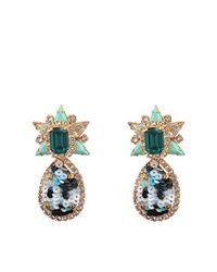 Shourouk | Green Galaxy Sequins Earrings | Lyst