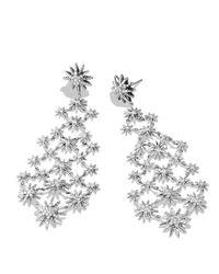 David Yurman - Metallic Starburst Chandelier Earrings With Diamonds - Lyst