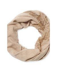 Ralph Lauren - Natural Lace Infinity Scarf - Lyst