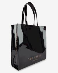 Ted Baker | Black Bow Detail Large Shopper Bag | Lyst