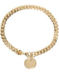 A.P.C. - Metallic Gold Blake Bracelet for Men - Lyst