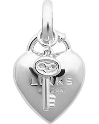 Links of London | Metallic Heart Padlock Sterling Silver Charm - For Women | Lyst
