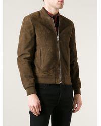 Saint Laurent - Green Zip Jacket for Men - Lyst