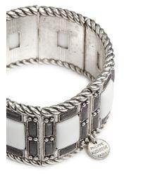 Philippe Audibert - White 'Ray' Matte Rhinestone Elastic Bracelet - Lyst
