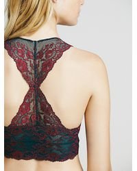 Free People | Blue Wild Roses Galloon Racerback | Lyst