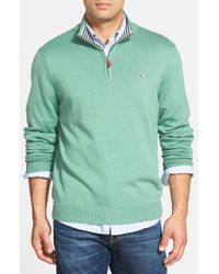 Vineyard Vines - Green Quarter Zip Pullover for Men - Lyst