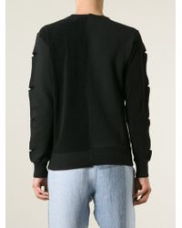 Vivienne Westwood Anglomania - Black Slit Sleeve Sweatshirt for Men - Lyst