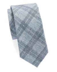 Original Penguin - Blue Plaid Tie for Men - Lyst