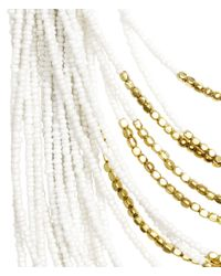 H&M - White Multistrand Necklace - Lyst