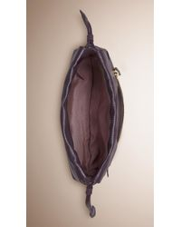Burberry - Purple The Mini Crush In Grainy Leather - Lyst