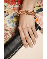Eddie Borgo - Pink Rose Gold-Plated Crystal Chain-Link Bracelet - Lyst