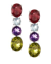 Asprey - Multicolor Gem Chaos Drop Earrings - Lyst