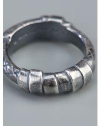 Bottega Veneta | Metallic Woven Ring for Men | Lyst