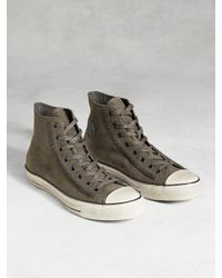 John Varvatos | Gray Chuck Taylor Artisan Stitch High Top for Men | Lyst