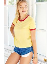 Truly Madly Deeply - Yellow Bleachers Ringer Tee - Lyst