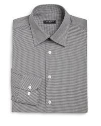 Saks Fifth Avenue | Black Regular-fit Cotton Houndstooth Dress Shirt for Men | Lyst