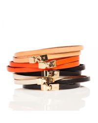 Linea Pelle | White Triple Wrap Bracelet | Lyst