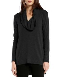 Michael Stars | Black Cowl Hood High/low Tunic | Lyst
