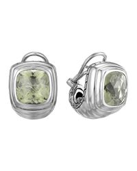 John Hardy | Metallic Bedeg Silver Batu Large Shrimp Earrings With Green Amethyst | Lyst