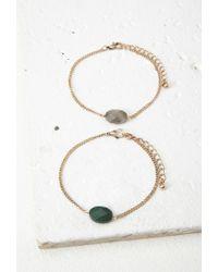 Forever 21 | Metallic Faux Stone Bracelet | Lyst