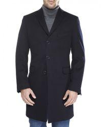 Jules B - Blue Loro Piana Wool Overcoat for Men - Lyst