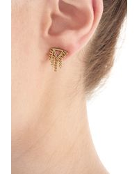 Marc By Marc Jacobs - Metallic Earrings With Chain Detail - Gold - Lyst