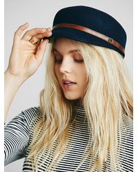 Free People | Blue Slipaway Sailor Cap | Lyst