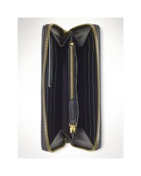 Polo Ralph Lauren - Black Leather Continental Wallet - Lyst