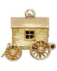 Annina Vogel | Metallic Vintage Gold Gypsy Wagon Charm | Lyst