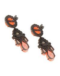 Shourouk   Orange Earrings   Lyst