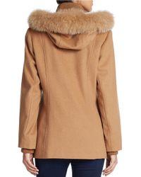 George Simonton | Brown Saga Fox Fur-trimmed Wool-blend Jacket | Lyst
