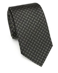 Armani | Brown Cross Print Silk Tie for Men | Lyst