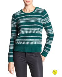 Banana Republic | Green Factory Braid-stitch Sweater | Lyst