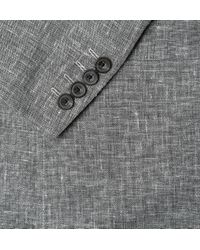 Richard James | Gray Spirit Unstructured Linen Wool and Silkblend Blazer for Men | Lyst