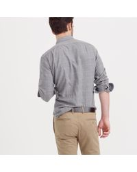 J.Crew - Gray Slim Brushed Twill Shirt In Windowpane for Men - Lyst