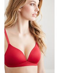 Forever 21 - Red Wireless T-shirt Bra - Lyst
