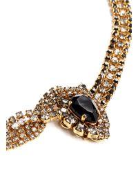 Aerin | Metallic Twist Chain Crystal Necklace | Lyst