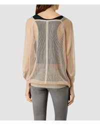 AllSaints - Natural Bishi Cowl Neck Jumper - Lyst