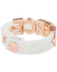 BCBGeneration | Pink Printed Rubber Affirmation Bracelet | Lyst