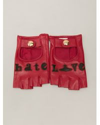 Vivienne Westwood - Red 'Love/Hate' Gloves - Lyst