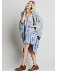 d9bc70dc0 Lyst - Free People Womens Waverly Cocoon Kimono in Blue