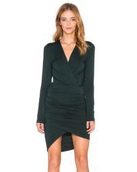 Young Fabulous & Broke - Green V-Neck Stretch-Jersey Wrap Dress  - Lyst